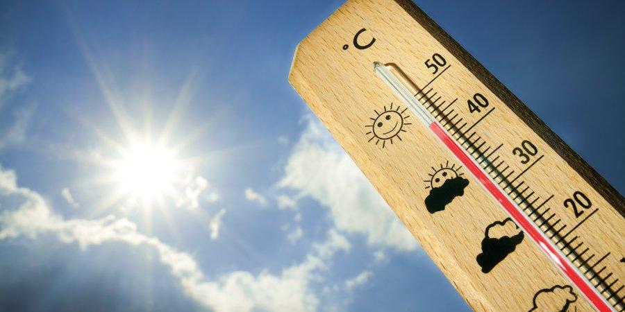 Thermometer en een zon
